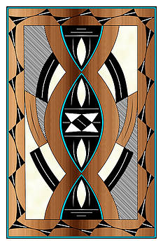 Southwest Collection - Design Two in Blue by Tim Hightower