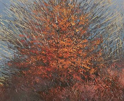 Detail from Three Winter Trees by Sean Conlon