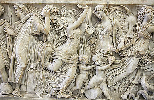 Detail of Medea sarcofagus by Patricia Hofmeester