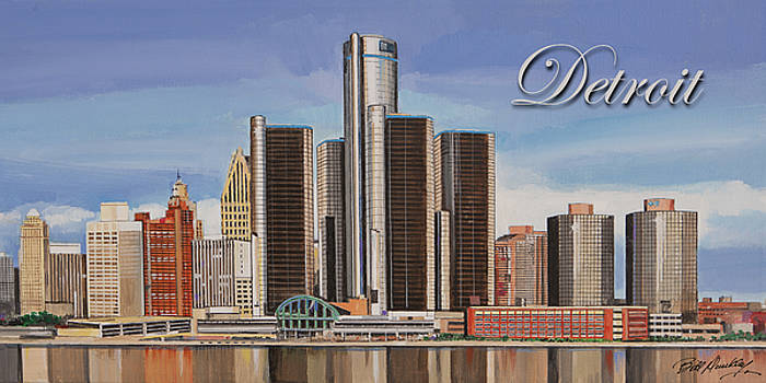 Detroit Skyline by Bill Dunkley
