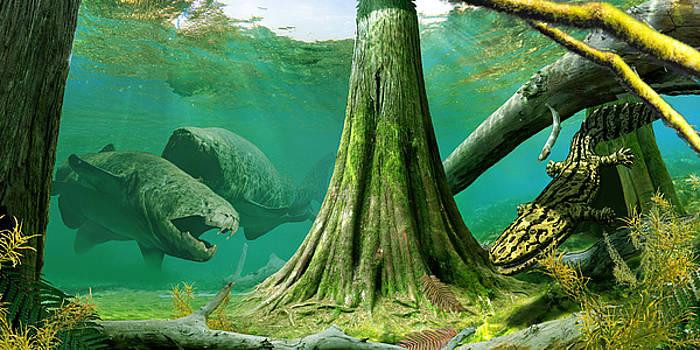 Devonian mural by Julius Csotonyi