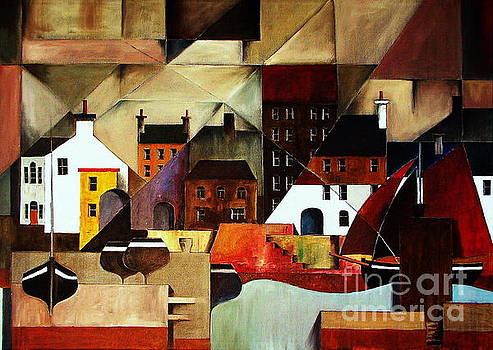 Home at last in  Galway.. Cladagh Harbour by Val Byrne