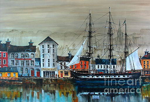 IRELAND CANADA LINKS.. The'' DUNBRODY'' Famine ship in New Ross, Wexford by Val Byrne