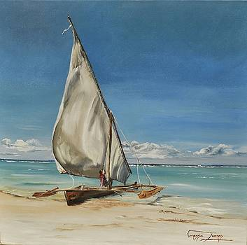 Dhow of Mozambique  by Vanessa Lomas