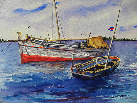Dhows off Lamu by Chuck Creasy