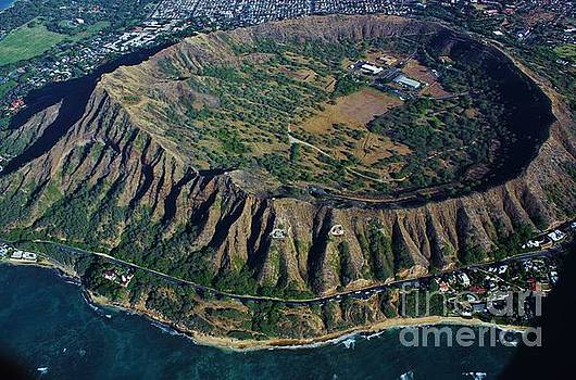 Diamond Head Crater an Aerial View by Craig Wood