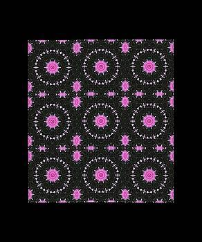 Digital Dahlia Quilt Block by Tonie Cook