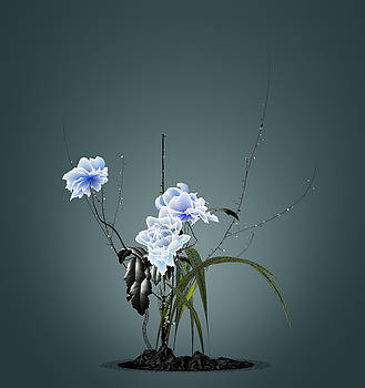 Digital Flower Arrangement by GuoJun Pan