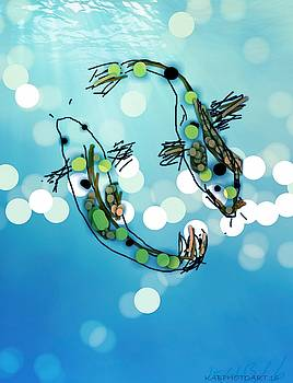 Digital Koi by Kathy Barney