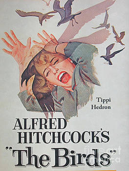 Director Alfred Hitchcock Rare Unique Collectible Famous Vintage Birds Poster by Pd