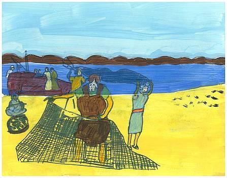 Disciples Fishing by Rosemary Mazzulla