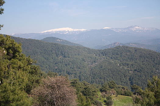 Tracey Harrington-Simpson - Distant Snow Topped Moutains from Cicekli Ula
