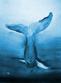 Diving Whale by Deborah Lee