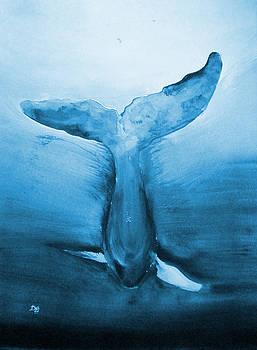 Diving Whale by Deborah Lee