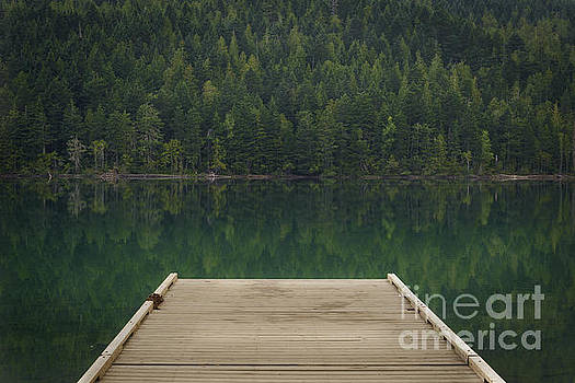 Dock at Clearwater Lake, Wells Gray Provincial Park, North Thomp by Carrie Cole