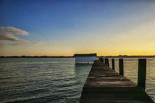 Dock Sunrise by Nancie Rowan