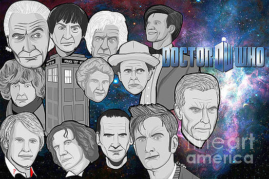 Doctor Who collage by Gary Niles