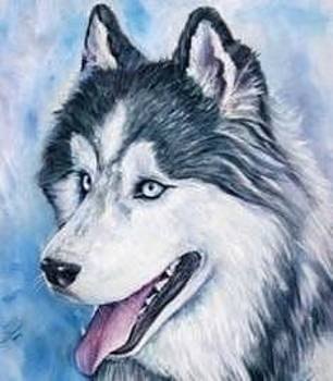 Dog pet portrait by artist ma by Renee Dumont  Museum Quality Oil Paintings  Dumont