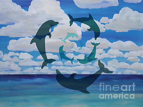 Dolphin Cloud Dance by Shelley Myers