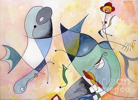 Dolphin Garden by Carolyn Weir