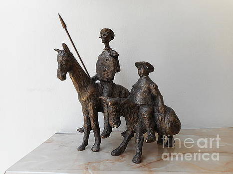 Don Quixote and Sancho Panza by Nikola Litchkov