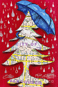 Don We Now Our Rain Apparel - City of Vancouver by Nancy Harrison