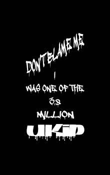 Don't blame me UKIP by Peter Stevenson