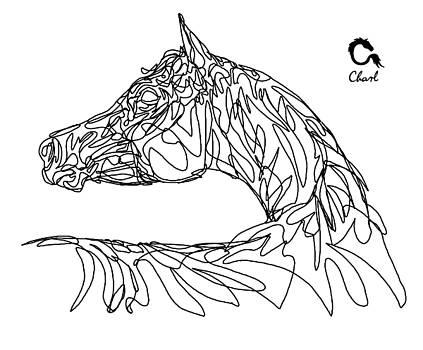 Doodle Arabian by Charlotte Grub