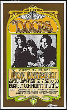 Doors/Iron Butterfly concert poster by Allen Beilschmidt