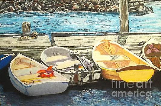Dories in Maine by Frank Giordano