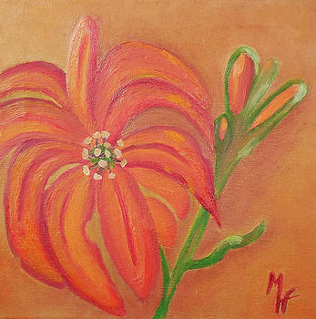 Double Headed Orange Day Lily by Margaret Harmon