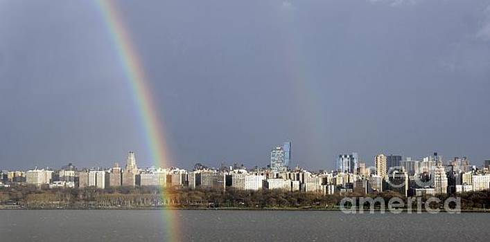 Double Rainbow over NYC by Lilliana Mendez