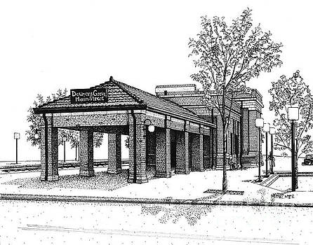 Downers Grove Main Street Train Station by Mary Palmer