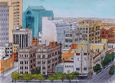 Downtown from Above by Candy Mayer