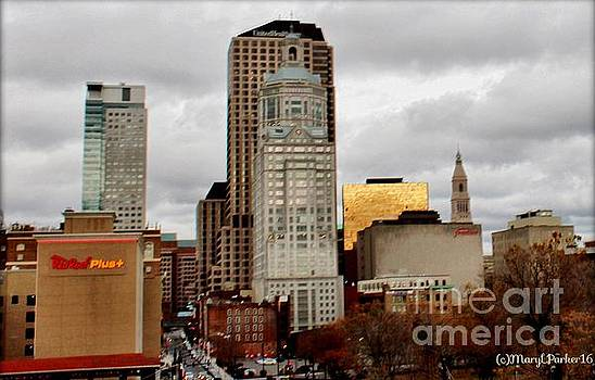 Downtown Hartford, Conn by MaryLee Parker