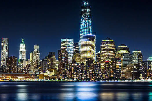 Downtown Manhattan from Hoboken by Val Black Russian Tourchin