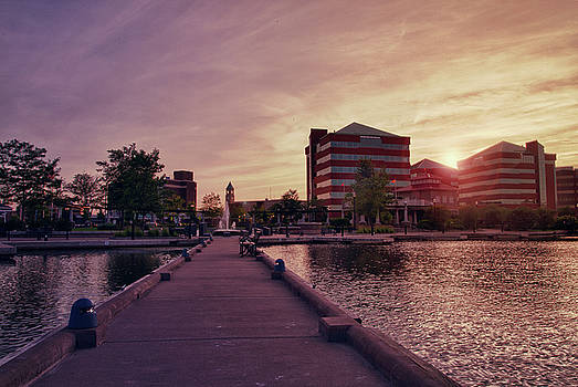 Downtown Neenah Sunset by Joel Witmeyer