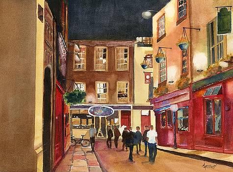 Downtown Saturday Night by Marsha Elliott