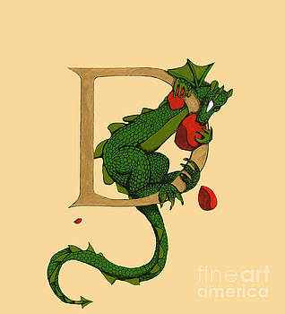 Dragon Letter D 2016 by Donna Huntriss