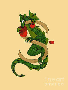 Dragon Letter S V2 by Donna Huntriss