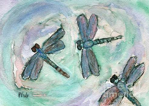 Dragonflies by the Water by Bev Veals