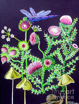 Genevieve Esson - Dragonfly Thistle and Snail