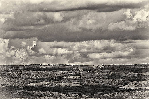 Dramatic Monochrome Vista by Nancy  de Flon