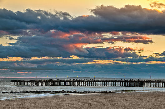 Dramatic sunset on Coney Island by Andrey Kopot