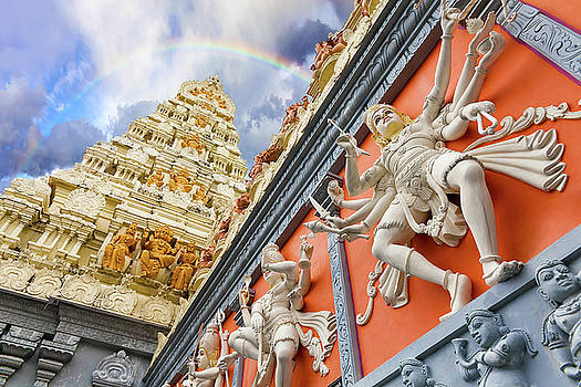 Dravidian Architecture Exterior of Hindu Temple by Jit Lim