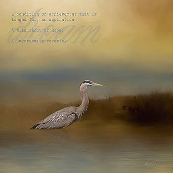 Dream - Blue Heron Art by Jordan Blackstone