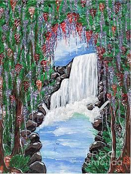 Dreamy waterfall by Saranya Haridasan