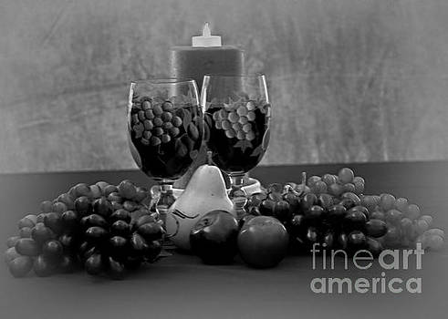 Drink Fo Two in Black and White by Sherry Hallemeier
