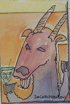 Drinking in a Goat Bar by James  Christiansen
