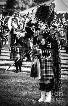 Drum Major - Scottish Festival and Highland Games  by Gary Whitton